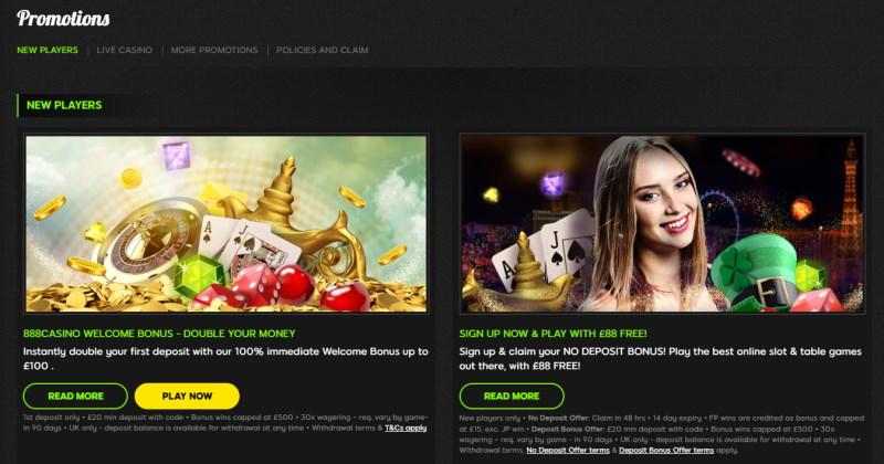 888 Casino Promotion Code Uk