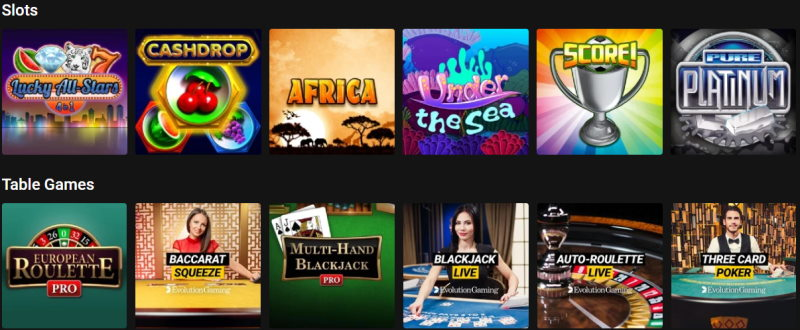 Wide variety of online casino games you can choose from