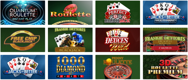 Enjoy the variety of available online casino games